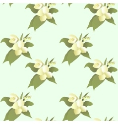 abstract jasmine flower seamless pattern vector image