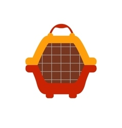 Animal carrier flat icon vector image