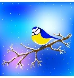 Bird on branch vector
