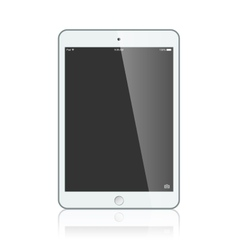 Black business ipad isolated on white background vector image vector image
