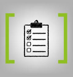 checklist sign black vector image