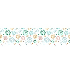Colorful molecules horizontal seamless pattern vector image
