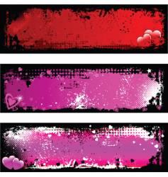 grunge Valentine's backgrounds vector image vector image