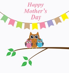 owl mom day vector image vector image