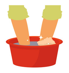 washing in the basin icon cartoon style vector image