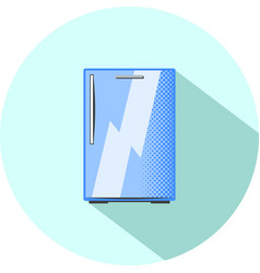 half-size refrigerator built-in kitchen appliance vector image