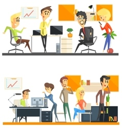 Office Team Two Set vector image vector image