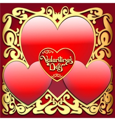 Valentines Ornamental Card vector image vector image