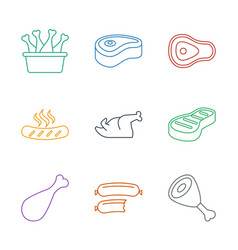 9 barbecue icons vector