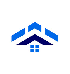 abstract home residence up arrow logo icon vector image