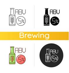 Alcohol volume icon vector