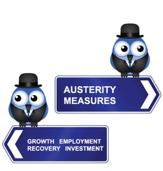 AUSTERITY SIGN vector image
