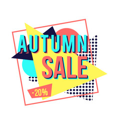 autumn sale banner for online shopping vector image