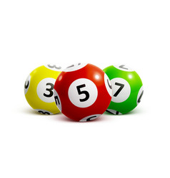 ball lottery numbers 3d vector image