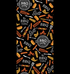 bbq party seamless pattern vector image