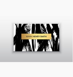 Black and gold design templates for brochures vector
