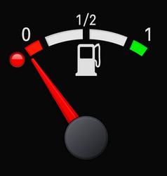 Black fuel gauge scale empty tank vector