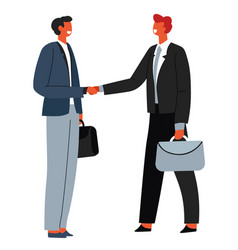 Business partners at meeting male characters vector