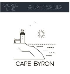 Cape Byron Australia vector