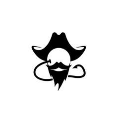 carp fishing hook and bait logo fishing boyle vector image