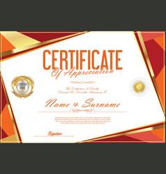 Certificate retro design template 02 vector