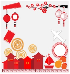 China background travel culture vector