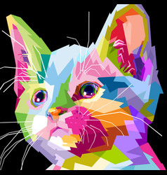 close up of face cat vector image