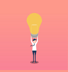 creative idea flat design as lightbulb vector image