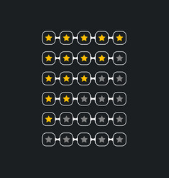 creative star rating symbol for black theme vector image