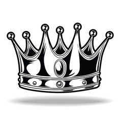 Crown black and white king queen 5 vector