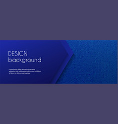 dark blue long banner template abstract vector image