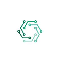 electronics technology logo icon abstract symbol vector image