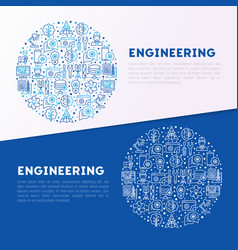 Engineering concept in circle vector