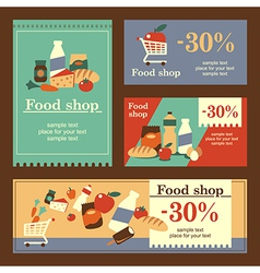 food shop banners vector image