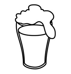 Fresh beer isolated icon vector