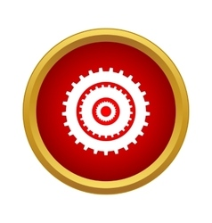 Gear icon simple style vector image vector image
