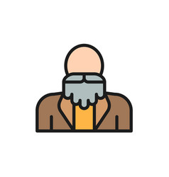 Grandfather old man with a beard pensioner vector