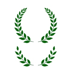 Green laurel wreaths vector