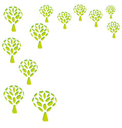 green trees background patterns vector image