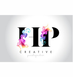 Hp vibrant creative leter logo design with vector