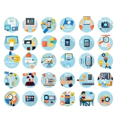 Icons set for business presenteshion vector