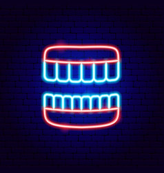 jaw neon sign vector image