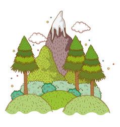 landscape nature wtih mountain vector image