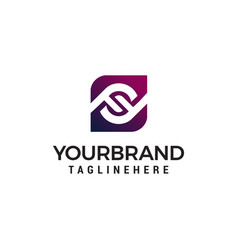 letter ff logo design concept template vector image