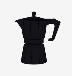 Moka pot silhouette traditional italian coffee vector