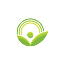 Nature - logo template concept vector