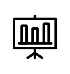 presentation board line icon report chart or vector image