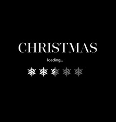 progress with inscription - christmas loading in vector image