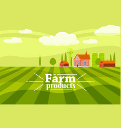Rural countryside with a farm vector