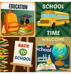 School education compositions vector